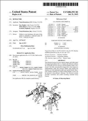 Retractor Patent 9084591