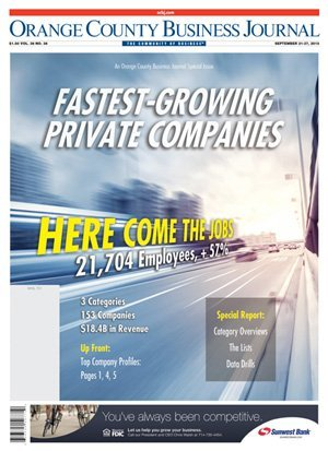 Fastest-Growing Private Company OCBJ